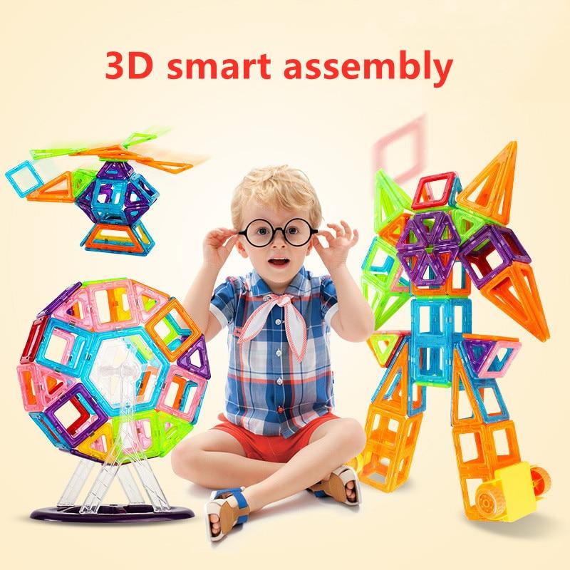 128-184 pces mini conjunto de construção de designer magnético modelo & brinquedo de construção blocos magnéticos brinquedos educativos para presentes das crianças