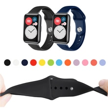 Colorful Soft Silicone Watch Strap Band For Huawei Watch Fit Repleacement Wrist band strap Correa