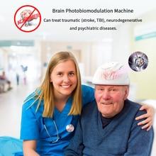 Casco para terapia de fotobiomodulación, no láser, transcraneal, para estimulación cerebral integral