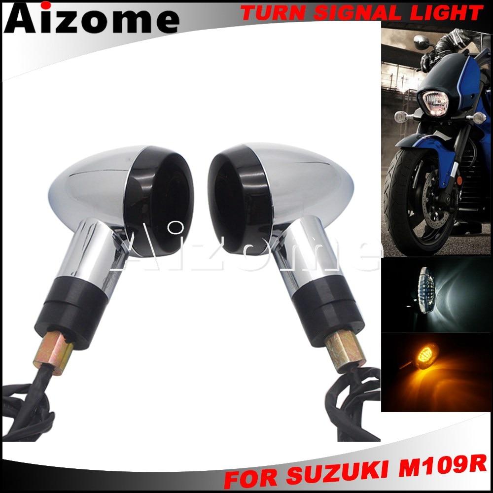 EMARK E4 luz LED de intermitente delantera/trasera para Suzuki bulevar M109R VRZ1800 3 en 1 luz indicadora de freno trasero