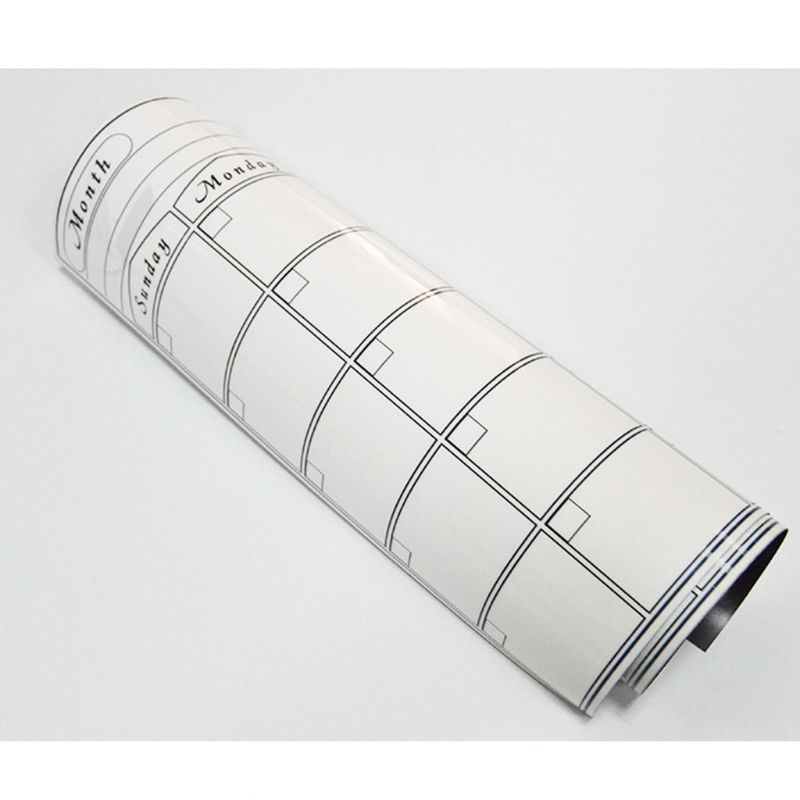 A3 Magnetic Monthly Planner Whiteboard Calendar Fridge Magnet Erasable Message G92E