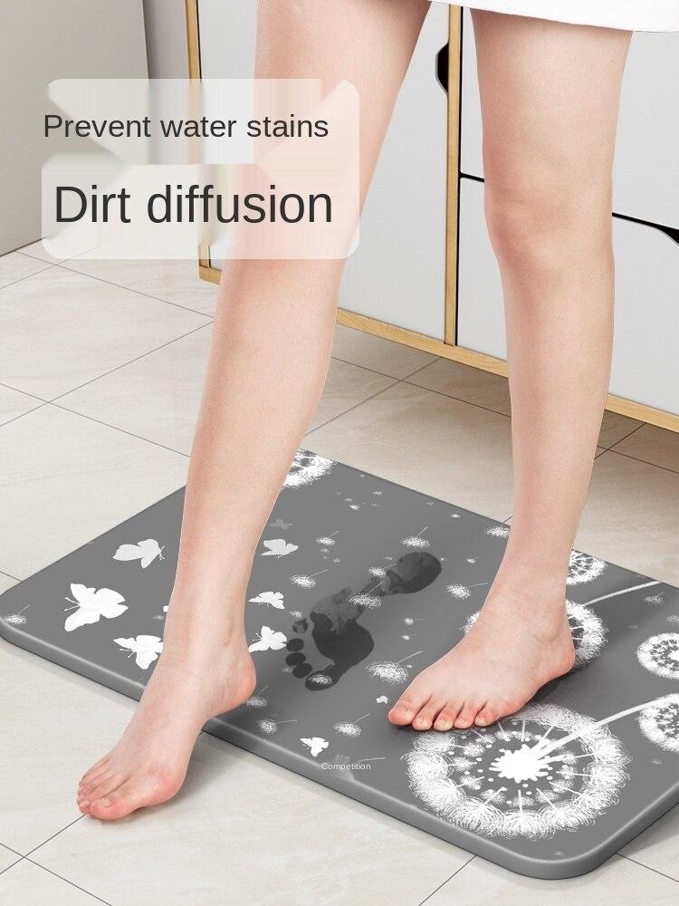Diatom Mud Absorbent Pad Seaweed Foot Mat Toilet Bathroom Entrance Non-Slip Home Quick-Drying Bathroom Kieselguhr Ground Pad enlarge