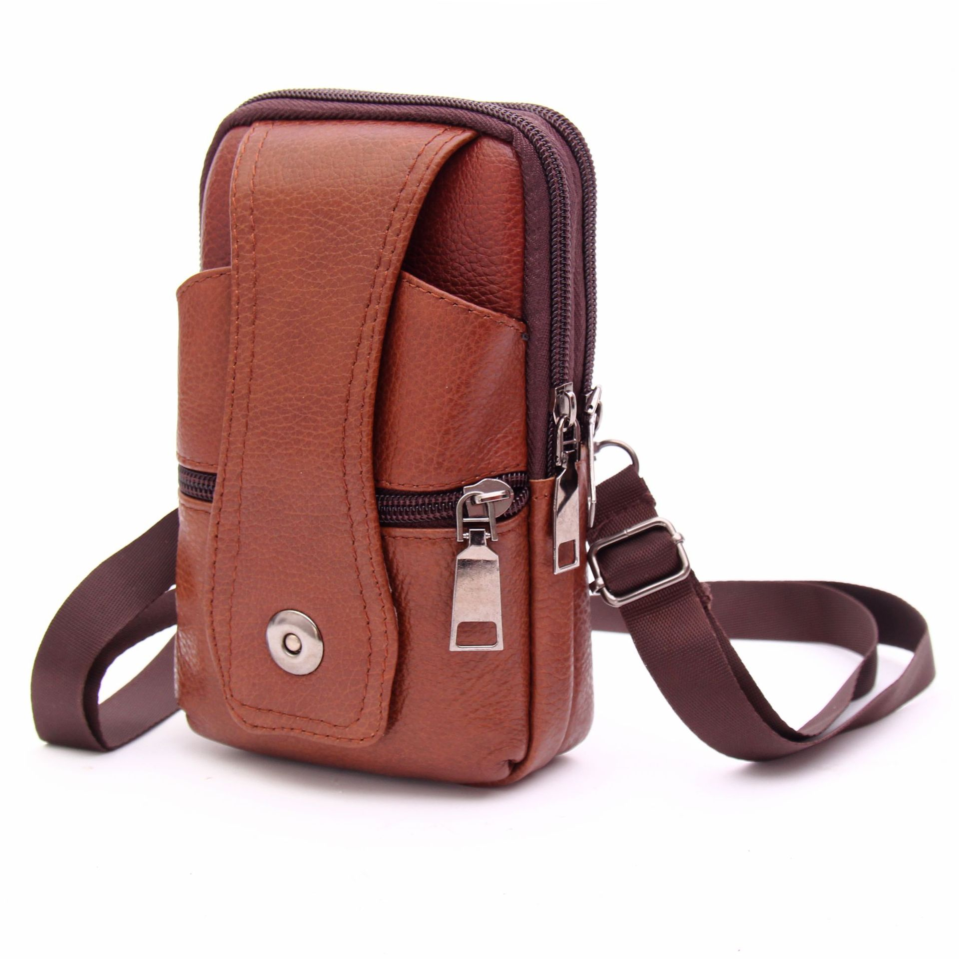 hunting axe hatchet head cover ax blade sheath belt loop holster thick genuine leather coffee color Men's Satchel Cellphone Loop Holster Case Belt Waist Bag Male Genuine Leather Purse Phone Wallet Fanny Pack сумка на пояс