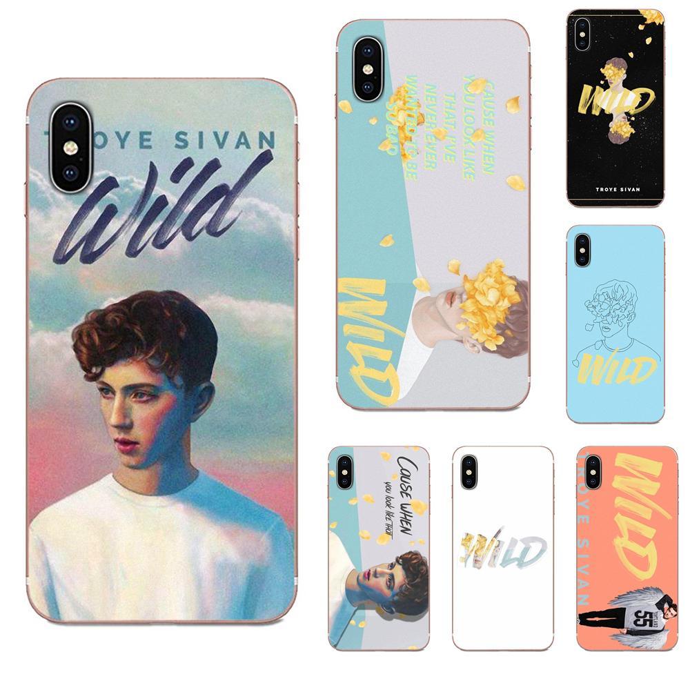 TPU Mobile For Xiaomi CC9E Mi3 Mi4 Mi4i Mi5 Mi 5S 6 6X 8 9 SE Play Plus Pro Lite A1 Mix 2 Note 3 Troye Sivan Wild Lyrics Art