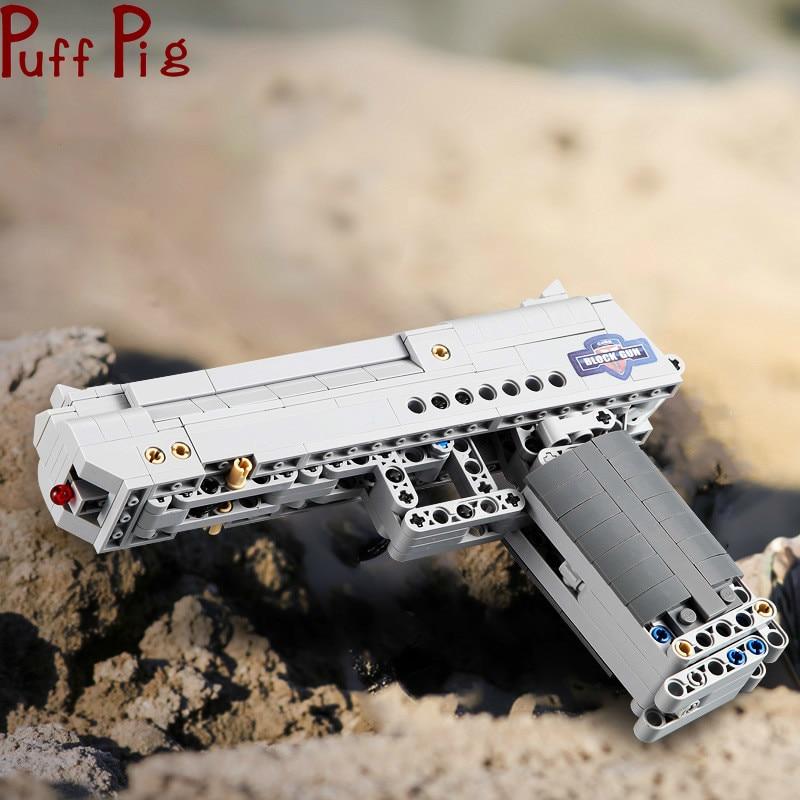مجموعة مكعبات بناء مسدس النقر ، 307 قطعة ، لعبة محاكاة CS Adventure ، هدايا للأولاد ، بالجملة