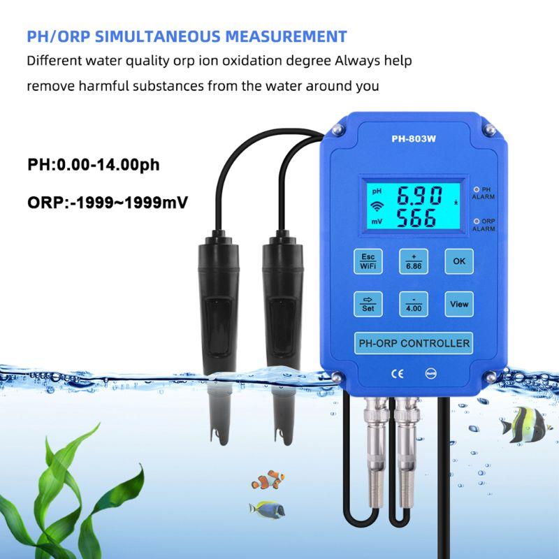 Relé de Potência Monitor de Qualidade da Água Novo Redox Controlador wi fi Saída 2021 2-em-1 ph Orp