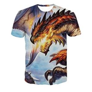 Summer Short Sleeve Hip Hop Monster Hunter Game T-shirt Men/women 3D Casual Print Loose Slim Men Shirt T-shirt 5XL Dropshipping