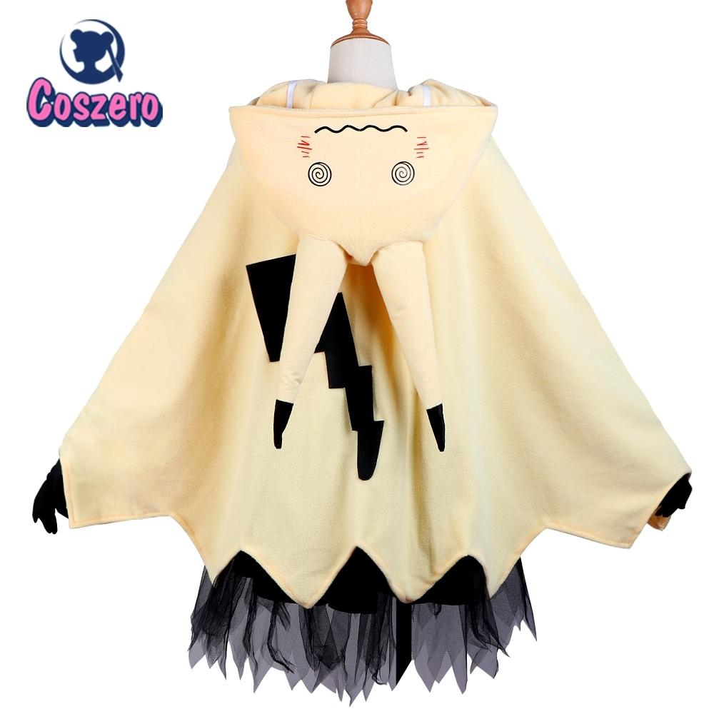 Mimikyu Cartoon Suit Women Pajama Anime Cloak Dress Costume Halloween Cloak for Adults Cute pajamas newly halloween female death dress terror skull role playing suit cloak stage costume for women te889