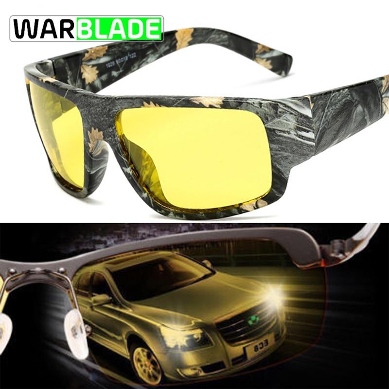 WaraBLade Night Vision Glasses Male Anti-glare HD Polarized Sunglasses Men Women Driving Glasses Yellow Driver Eyewear 1028