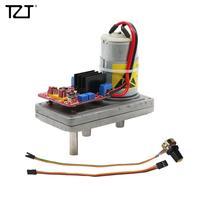 TZT DC 12V to 24V Metal Gear High Torque Servo 100kg/cm with Potentiometer for Mechanical Arm Robot