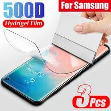 Voll Curved Display Hydrogel Film Auf Die Für Samsung S10 Lite E S8 S9 S10 PLus Schutzhülle Weichen Film Für samsung Note 8 9 Keine Glas