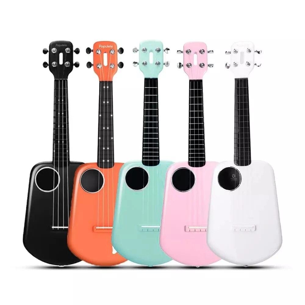Mijia Populele 2 светодиодный приложение Управление умное usb-устройство Для Гавайская гитара 4 струны Гавайская гитара 23 дюймов укулеле концерт ABS гриф акустической Электрогитары