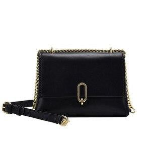New Fashion Women PU Leather Chains Hasp Crossbody Bag Ladies Shoulder Bag  Cover Handbag