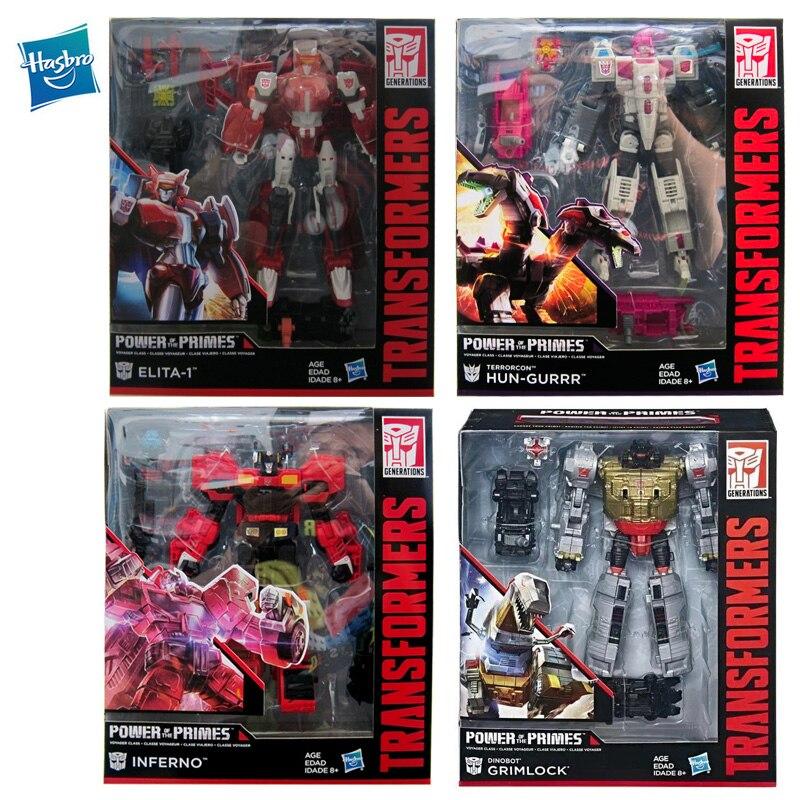 Hasbro Transformers Voyager Class Power of The Primes Robot Toy Terrorcon HUN-GURRR Grimlock Elita Collections Action Figure