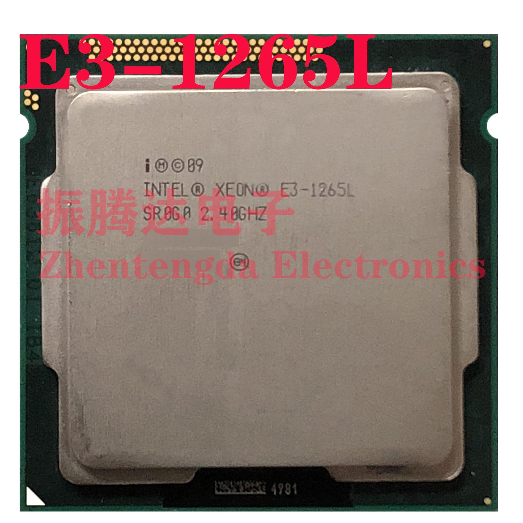 Intel Xeon E3-1265L 2.4GHz 8MB 4 Core 4 Thread LGA 1155 E3-1265L CPU Processor