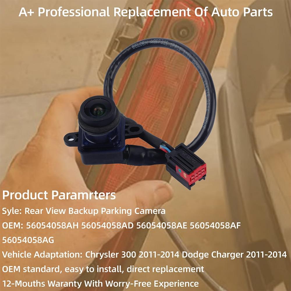 56054058AH 56054058AD 56054058AE 56054058AF Car Rear View Camera Backup Back Up Camera for Dodge Charger Chrysler 300 2011-2014