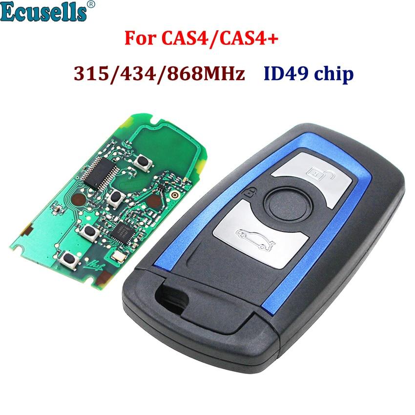Sin llave 3B remoto 315MHz YGOHUF5662 434MHz HUF5767 868 MHz HUF5661 para BMW 5 7 Serie F X5 X6 F30 CAS4 CAS4 + azul ID49 chip