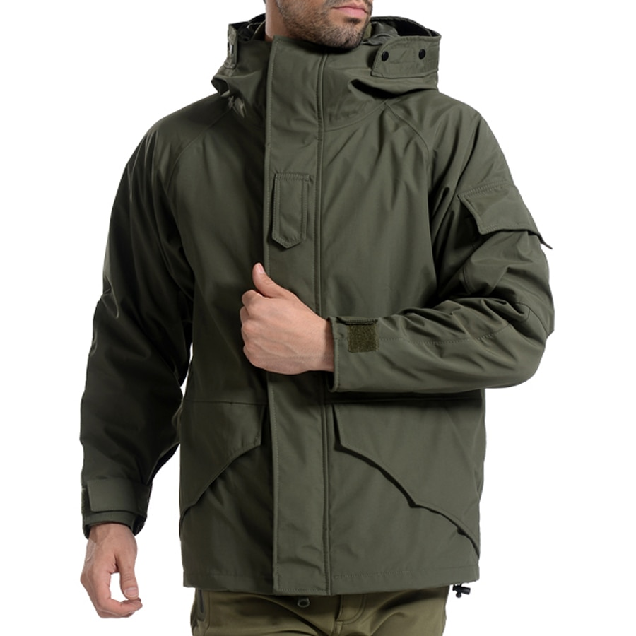 Camouflage Thermal Thick Coat + Liner Parka Military Tactical HoodedJacket Waterproof Outwear Camo Jacket