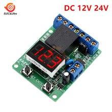 Module de relais de contrôle de tension numérique DC 12V 24V Module de carte de commande de commutateur de relais LED voltmètre moniteur de décharge de charge