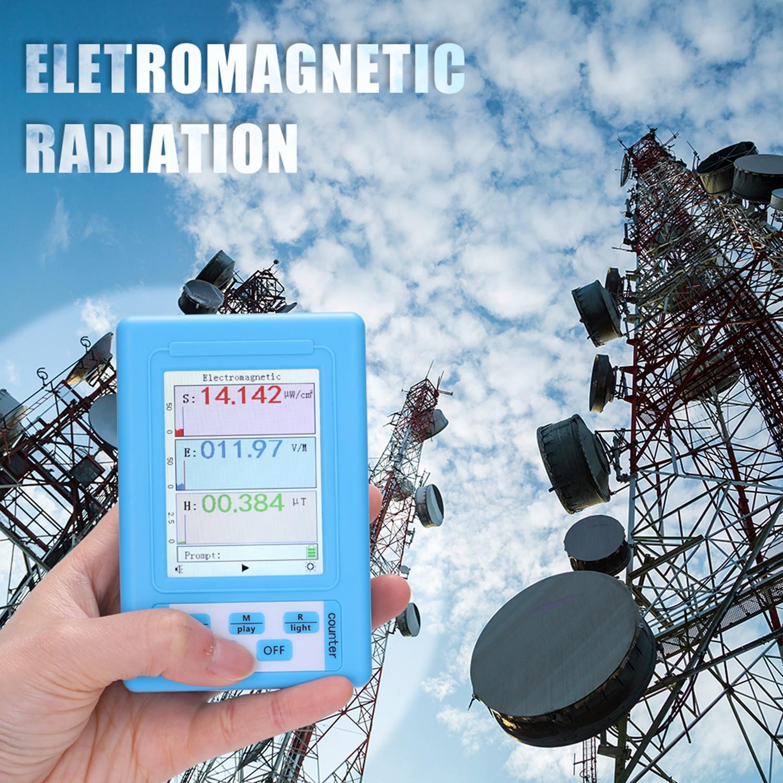 Detector de radiación electromagnética portátil de BR-9A, probador de radiación electromagnética de tipo Semi-funcional de alta precisión