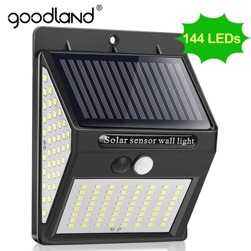 Goodland Outdoor LED Light 144 Outdoor Lighting Waterproof Street Lamp LED With PIR Motion Sensor LE