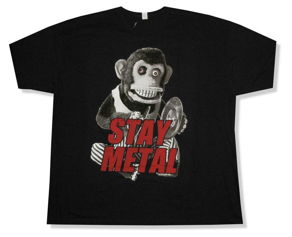 Señorita puedo mono estancia Metal negro T camisa grupo oficial de mercancía (1)