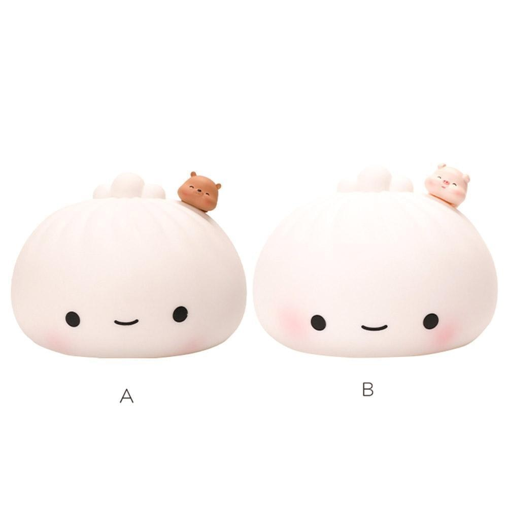 Cute Buns Pat Lights Colorful Soft Night Light Bedroom Adult Holiday Gifts Christmas Cartoon Holiday Children Home Decorati D0O3