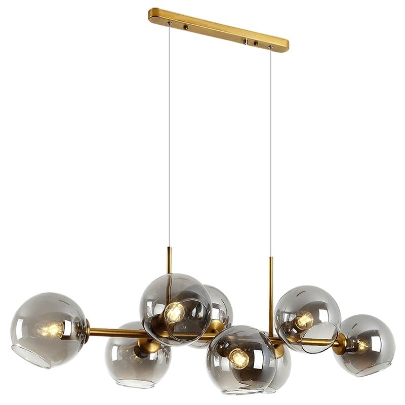 الشمال بسيط LED المطبخ الثريا الحديثة ديكور مطعم زجاج إبداعي غرفة المعيشة الإضاءة غرفة الطعام مصباح داخلي معلق