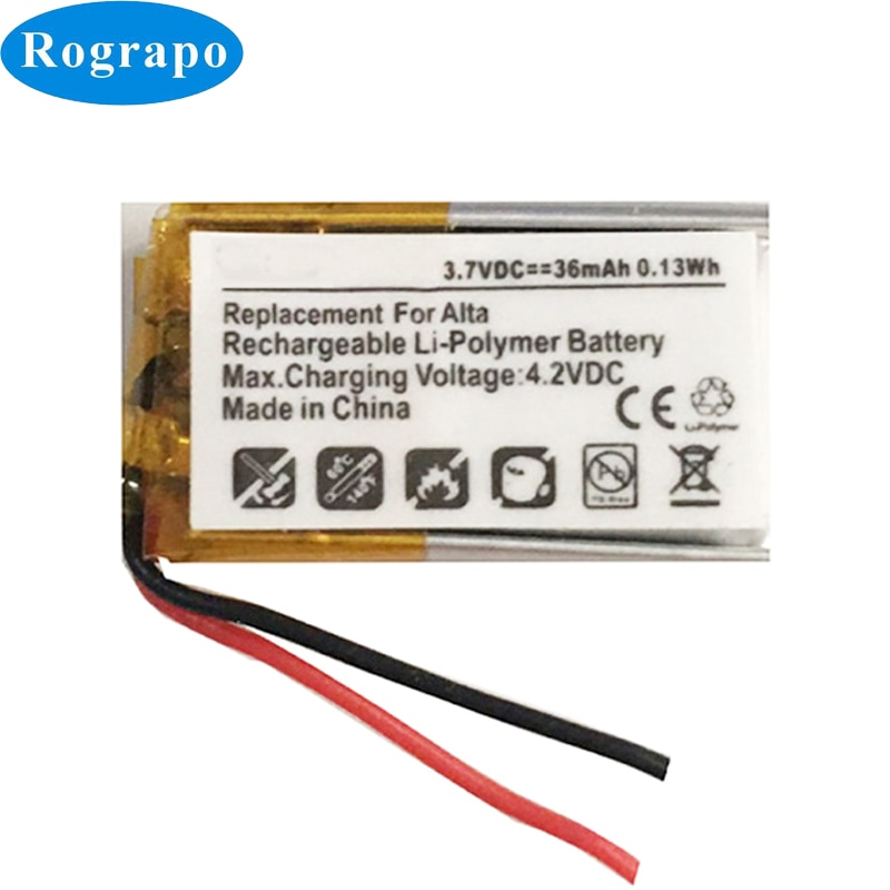 New 3.7V 36mAh Li-Polymer Replacement Battery For Fitbit Alta Accumulator 2-wire