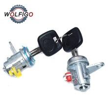 WOLFIGO nowy zestaw cylindrów zamka drzwi z kluczami (L & R) dla Toyota RAV4 1996 1997 1998 1999 2000 69051-42050 69051-42060 6905142050