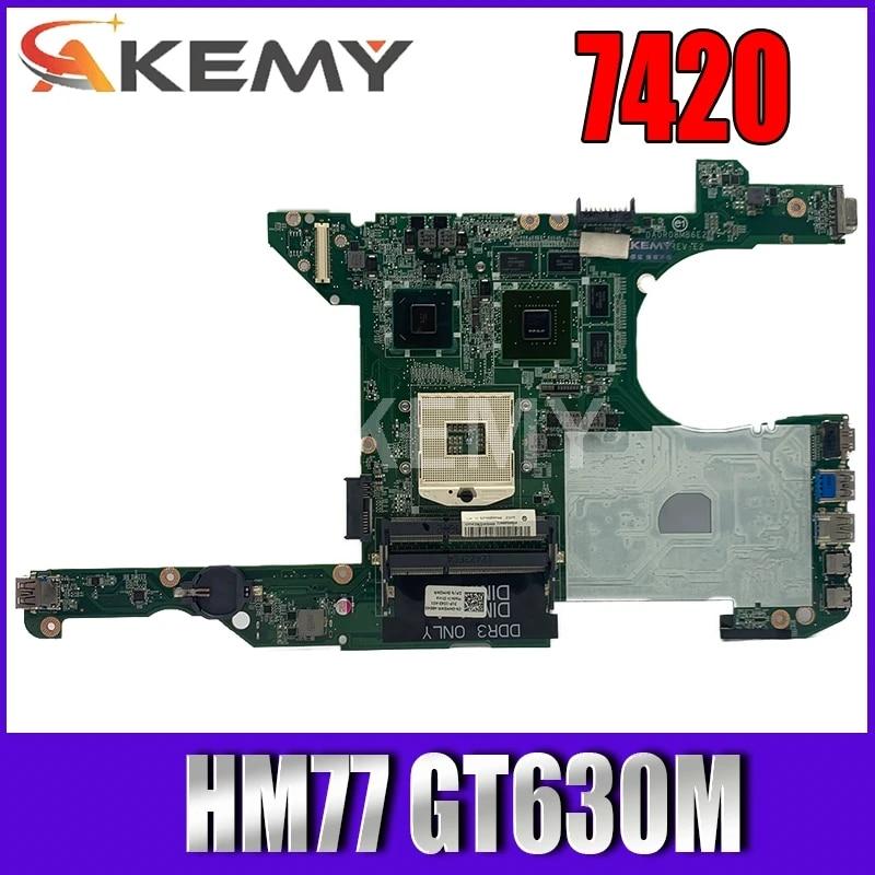 DR0R08MB6E2 motherboard Fur For DELL 14R 5420 7420 Laptop Motherboard DA0R08MB6E2 HM77 GT630M original Test mainboard