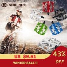 Vtt vélo route vélo pédales vélo de montagne Ultra-léger en alliage daluminium 9/16 pouces plat Cycle roulement accessoires pédale 5 couleurs