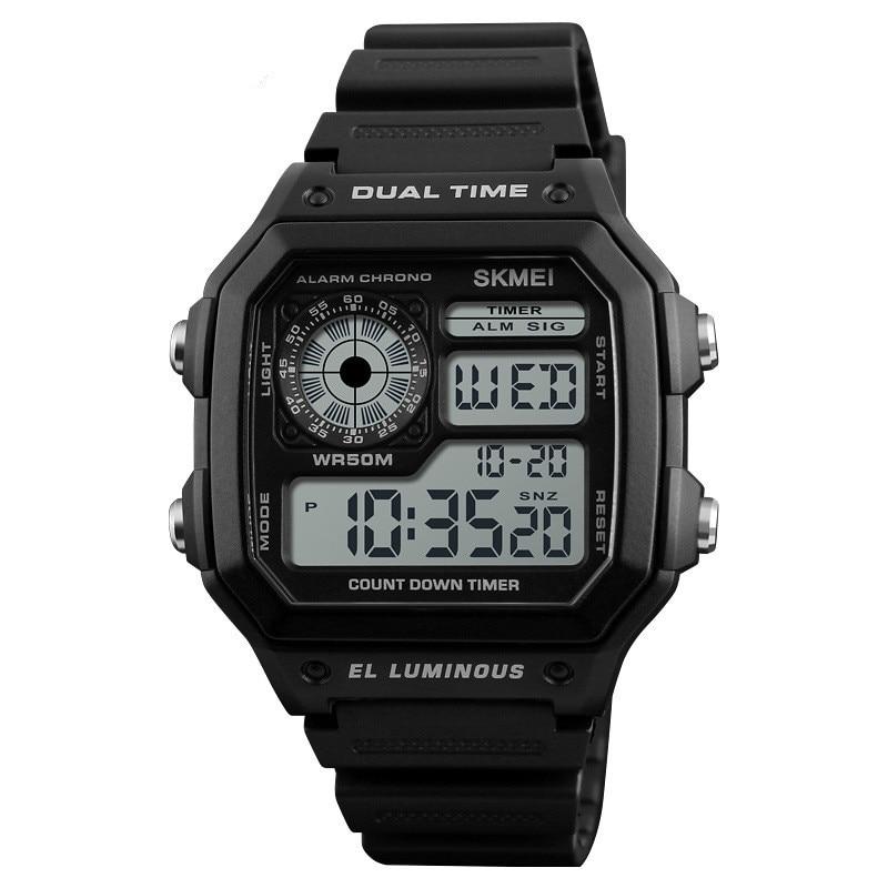 Skmei creative digital watch men's electronic watch outdoor sports student waterproof luminous watch