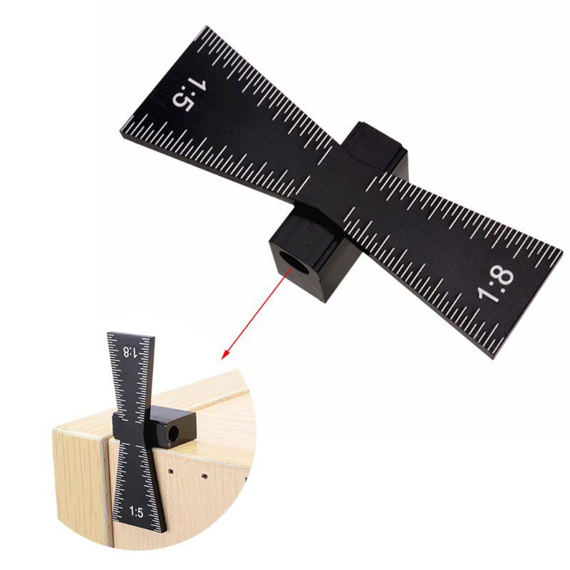 Ласточкин хвост маркер алюминиевый сплав ручной резки дерева суставов инструмент с шкалой шаблон Размер 1: 5 и 1: 8