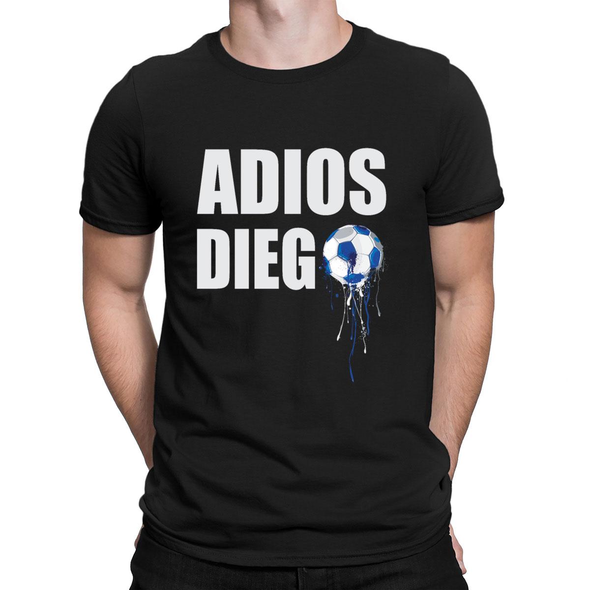 Camiseta de gola redonda de algodão da novidade normal do ajuste confortável do descanso de diego armando maradona da mão de deus