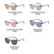 Cat Eye Ocean Film Anti-blue Light Retro Discoloration Sunglasses Fashion Simple Glasses Men And Wom