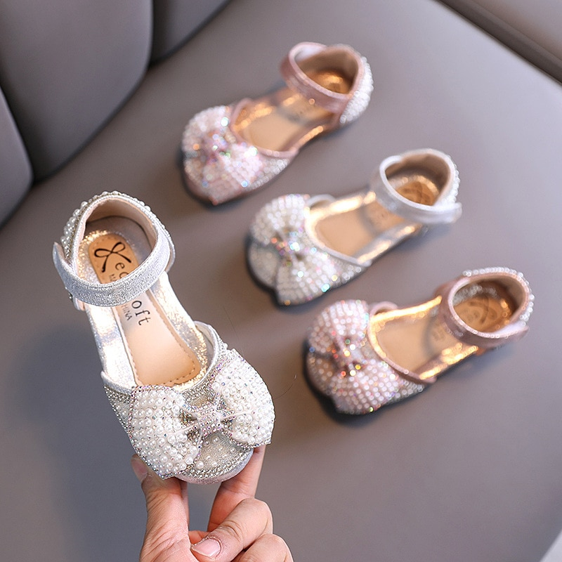 2021 spring autumn new Korean girls small medium big princess casual single children shoes performan
