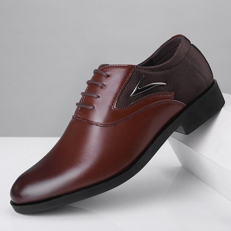 Formal Shoes Men Dress Office Shoes Men Classic Brown Dress Coiffeur Men Corporate Shoes Italian Brand Wedding Dress Big Size 48
