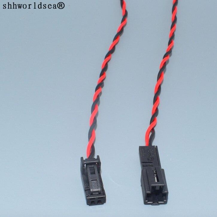 Shhworldsea 2pin 4B0971832 4B0 971 832 4E0 972 puerta 575 lámpara de luz LED Interior macho Conector de altavoz para Audi VW Skoda