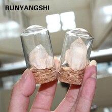 Runyangshi 1 шт. натуральный белый кристалл шероховатый прозрачный кварцевый камень стекло Ландшафтные украшения