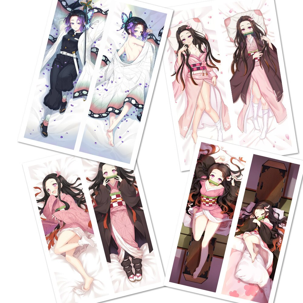 Mxdfafa anime japonês demônio slayer kimetsu não yaiba menina sexy dakimakura waifu corpo travesseiro caso abraçando otaku capa