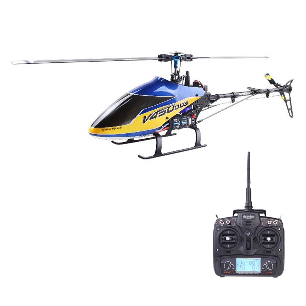 Original Walkera V450D03 With Devo 7 Transmitter 6CH 3D 6-axis-Gyro Flybarless RC Helicopter With Ba