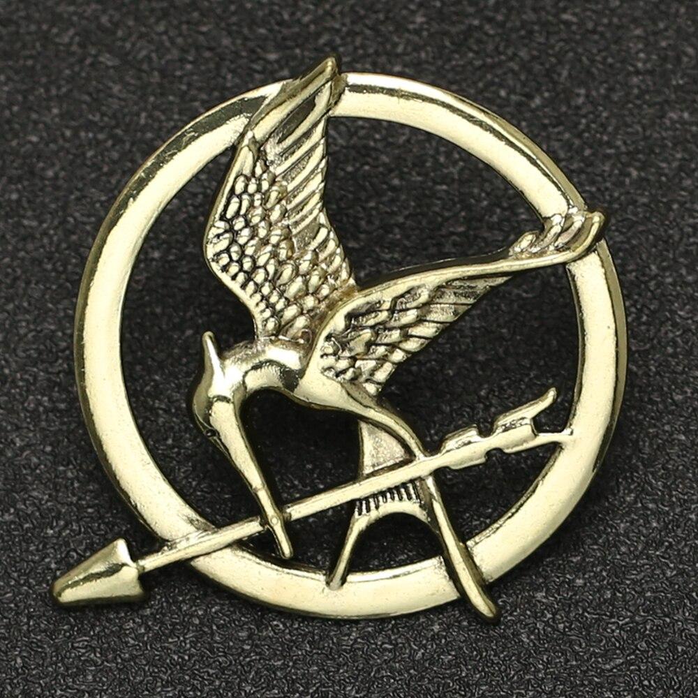 Broche con logotipo de Hunger Games para hombre y mujer, insignia con...