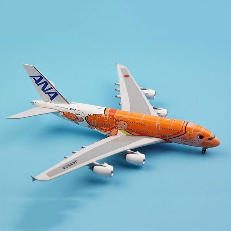 Авиационная модель 1 400 масштаб Airbus A380 модель самолета Ана Япония черепаха авиационного сплава литья под давлением самолетов