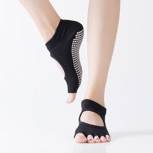 women socks Yoga socks Comfortable dispensing open toe open back split toe sports floor ankle Non-slip socks women yoga gym