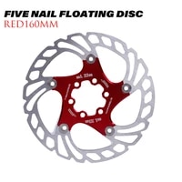 brake disc for bicycle mountain bike brake rotors down hill floating bicycle brake five nail floating discheat dissipation disc