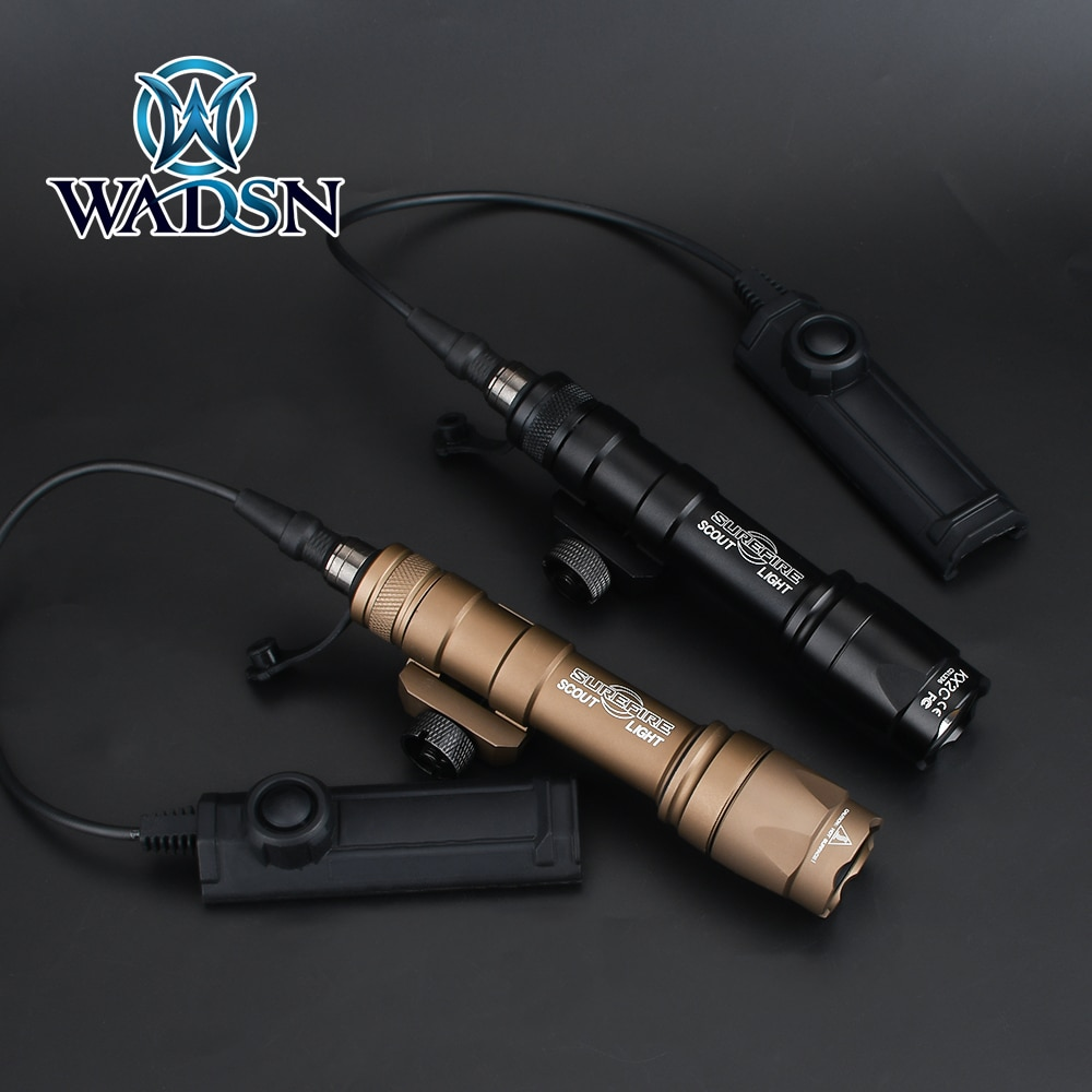 WADSN Airsoft Surefir M600 M600C Scout Flashlight 340Lumens LED Tatical Hunting Gun Weapon Light wit