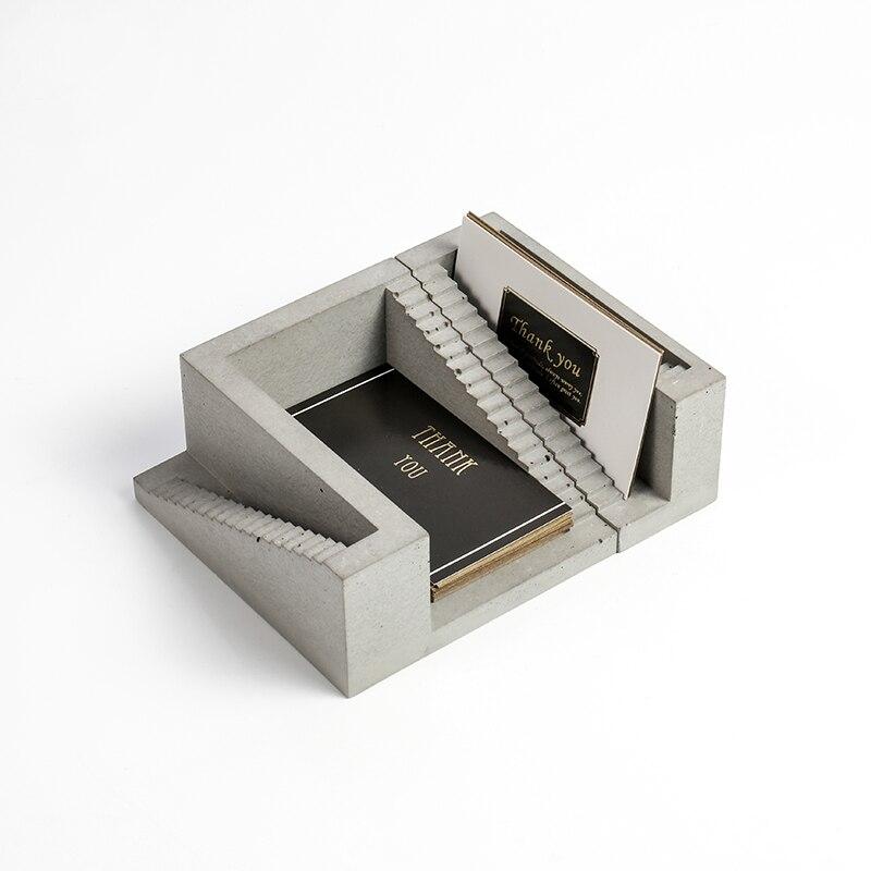 Micro gebäude treppen design beton karte clip silikon form männer liefert business büro zement karte halter form