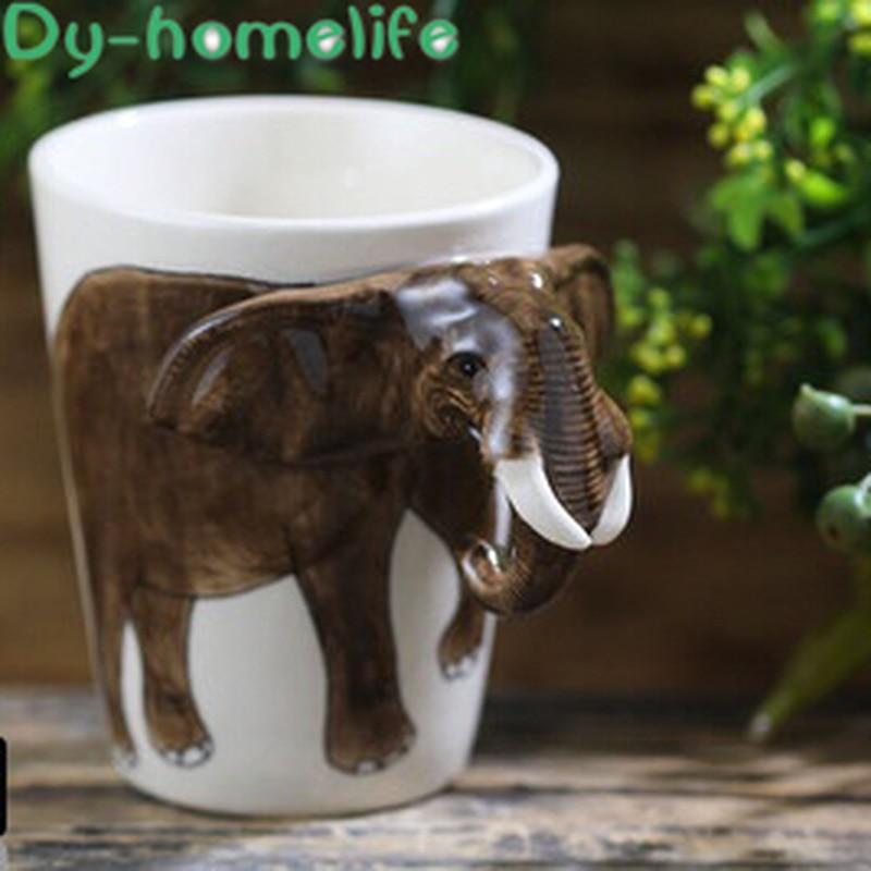 Keramik Becher Thai Drei-dimensional Elefanten Griff Kaffee Tee Tasse Wasser Ware Home Küche Dekoration Bar Zähler Büro Liefert