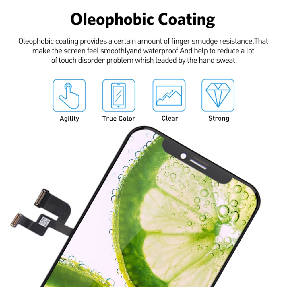 AAA RJ Incell Screen  For iPhone X LCD  No Dead Pixel With 3D Touch Digitizer Assembly For iPhone X XS XR XS MAX 11Pro with Gift enlarge
